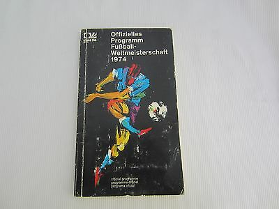 1974 World Cup Official Programme ( No Insert )