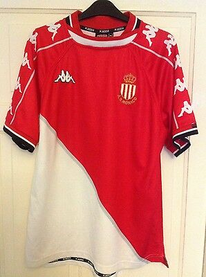 As Monaco Home Shirt 1999/2000 Kappa Very Rare Size Adult Medium