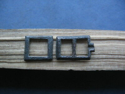 """""""pair Of Silver Buckle"""" Ancient Celtic Silver Belt Buckles 300-100 B.c."""