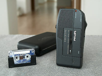 NICE Philips 598 Pocket Memo Executive Dictaphone Recorder & Tape