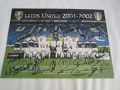 2001-02 Leeds United Team Line-Up Picture  Autographed By All Players