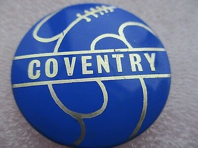 Vintage..coventry..coventry City..blue & Silver..football Shaped..tin Pin Badge