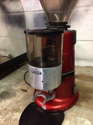Gaggia MD Coffee Grinder Commercial Red