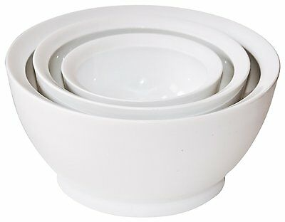 Calibowl Big Sur Stack Set of 3 Plastic Mixing Bowls WHITE  NEW