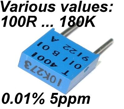 0.01% 5ppm 0.5W Very High Precision Vishay SFERNICE Foil resistor VARIOUS VALUES