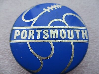 Vintage..portsmouth..portsmouth Football Club..blue & Silver..tin Pin Badge