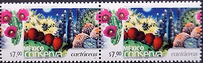 Mexico Conservation Perm Series Hor Pair Cactus $7 Nopal Flower Insects Bugs MNH
