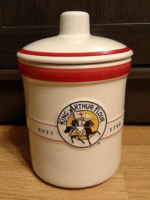 "King Arthur Flour 7.5"" Ceramic Canister with Lid"