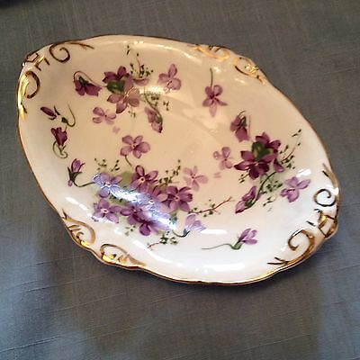 Hammersley violets small oval dish