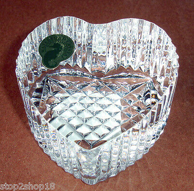 Waterford Heart Paperweight Slanted Top Solid Crystal Made in Ireland New