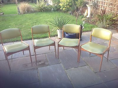 Retro/vintage Dining Chairs - Solid Wood. Set Of 4