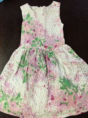 Children's Place Girls Floral Lace Dress Size 6X-7 Spring Easter