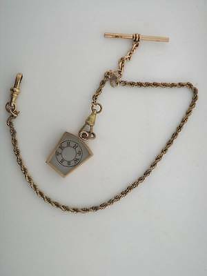 Masonic Gold Filled Pocket Watch Chain and FOB P Bros Special 21017A Freemasons