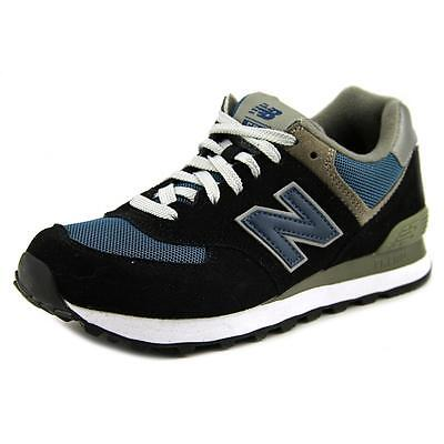 New Balance M574 Men  Round Toe Suede Black Fashion Sneakers
