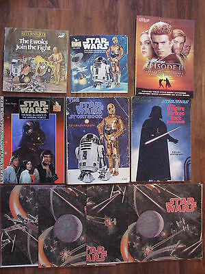 Star Wars lot - books, posters 10 total