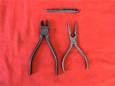 Mixed lot of (3) vintage engineers hand tools (Eclipse/Elliot Lucas/Ceka)