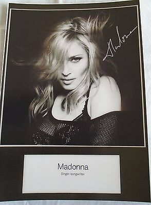 Madonna Signed A4 Print