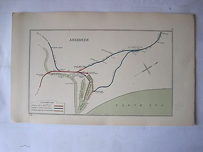 1928 RAILWAY CLEARING HOUSE Junction Diagram No.13 ABERDEEN.