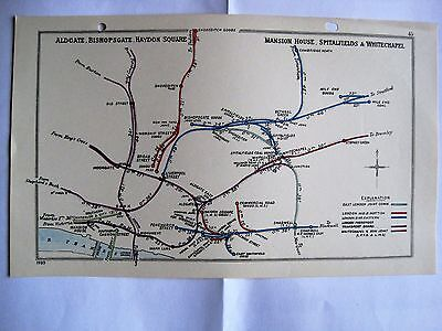 1939 RAILWAY CLEARING HOUSE Junc Diagram No. 45 LIVERPOOL STREET AREA.