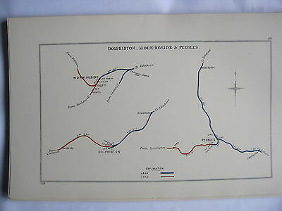 1928 RAILWAY CLEARING HOUSE Junction Diagrams.DOLPHINTON,MORNINGSIDE,PEEBLES.