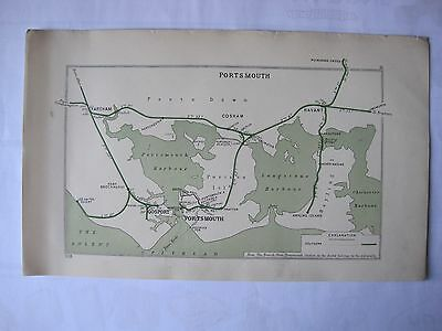 1928 RAILWAY CLEARING HOUSE Junction Diagrams.PORTSMOUTH.