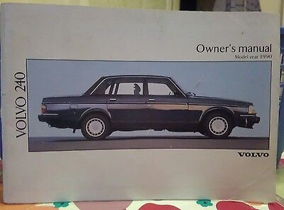 volvo 240 owners manual 1990