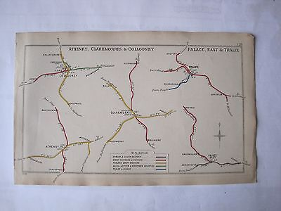 1909 RAILWAY CLEARING HOUSE Junc Diagram No.128 ATHENRY,COLLOONEY,PALACE EAST