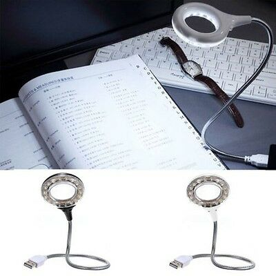 USB 18 LED Luce Flexible Lampada Da Lettura Ingranditore per Laptop PC
