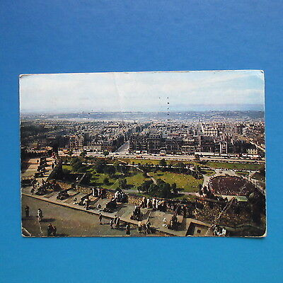 Old Postcard of Edinburgh from the Castle Ramparts.