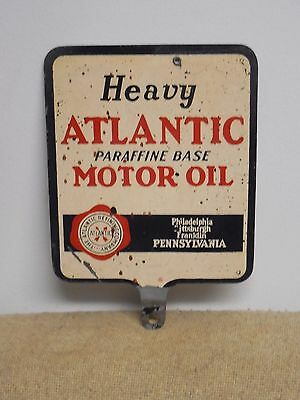 Vintage Original Atlantic Motor Oil Double Sided Lubster Non Porcelain Sign