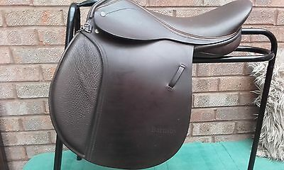 """16"""" BROWN BARNSBY PONY CLUB SADDLE - SIZE 4 (stamped) WIDE FIT - EX DEMO"""