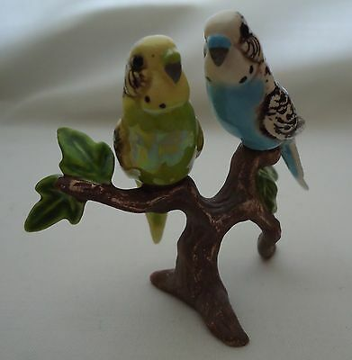 Hagen Renaker Speciality Figurine of Budgies on a Branch