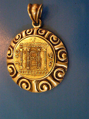 old st silver 925 jewish pendant with bar kokhba model coin size 4x4cm