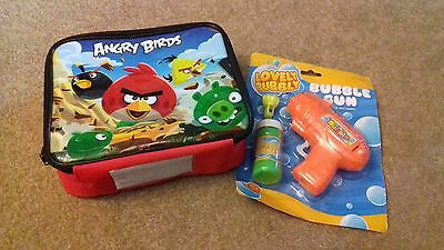 BRAND NEW - CHILD'S LUNCH BOX AND WATER PISTOL - ANGRY BIRDS - robot box