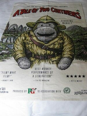 """PG Tips Tea Towel.  """"A Tale of Two Continents"""""""