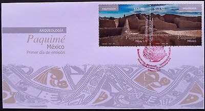 Mexico 2014 FDC Archaeology Paquime Ruins Tourism Chihuahua Pottery XIV Cent. XF