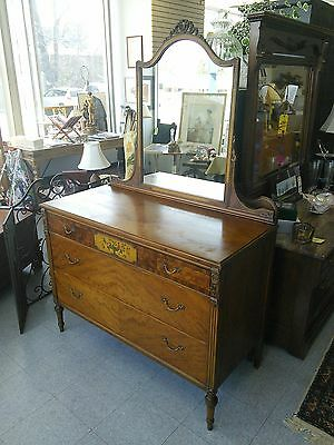 Antique Sligh Dresser/Mirror and Twin Bed