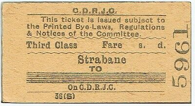 Railway Ticket County Donegal Rly 3rd Class Single Strabane to (blank)