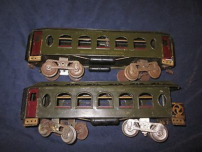 Lionel 18 190 Standard Gauge Passenger Cars Very Late With Lights