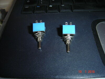 Double, Pole, Double Throw, Miniature Toggle Switch, X 2