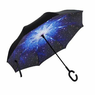 Aweoods Inverted Umbrella Windproof Reverse Folding Double Layer Travel Cars