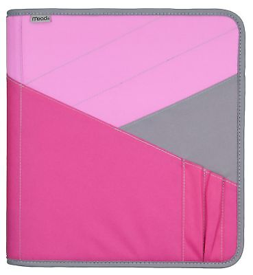 Mead Zipper Binder with Expanding File, 3 Ring Binder, 1.5 Inch Pink (72200)