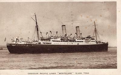 Canadian Pacific Liner Montclare RP Postcard  Boats Steam Ships Cruise Liners