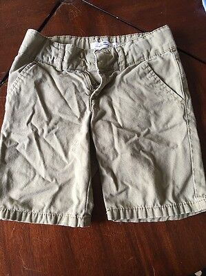 Girls Old Navy Army Green Shorts, Size 8