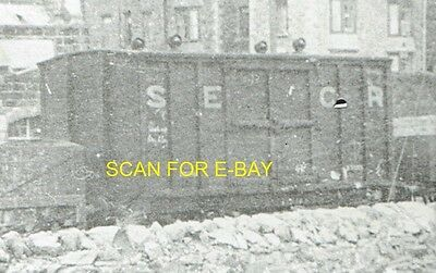 Railway Photo South Eastern & Chatham Railway 8T Goods Van at Unknown Location