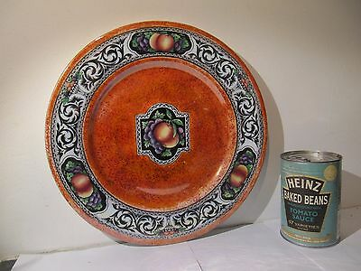 Maling Pottery Lucerne Orange Wall Plaque Plate