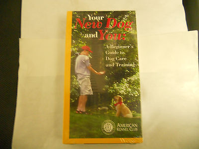 Your New Dog And You: A Beginner's Guide To Dog Care And Training Brand New Vhs