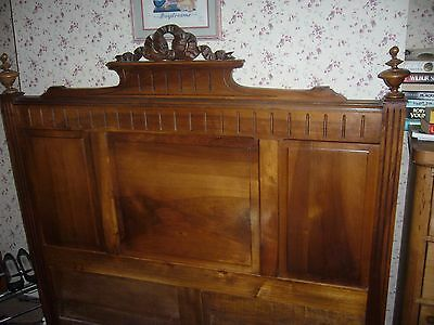 19th Century French Walnut Double Bed