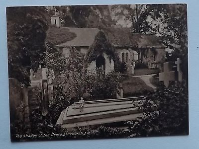 VINTAGE POSTCARD HAMPSHIRE  BONCHURCH Isle of Wight The shadow of the Cross