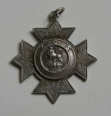 Vintage Fully Hallmarked Sterling Silver Crown & Lion K.C.S Watch Fob